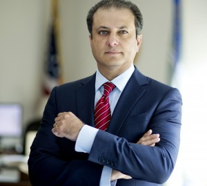 Preet Bharara, five years into his tenure as U.S. attorney for the Southern District of New York, in New York.