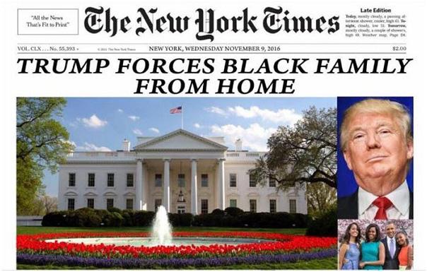 Trump Kicks Black Family from White House