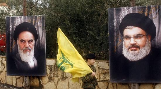 Ayatollah Khomenei and Hassan Nasrallah