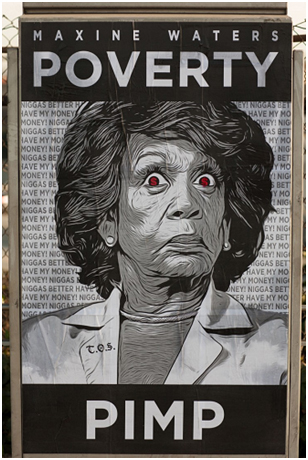 Street Art Protesting Maxine Waters