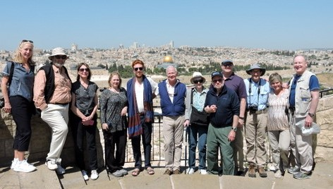 TTPers overlooking Jerusalem – April 2018