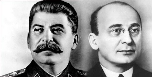 Democrat idols: Stalin and his chief henchman Lavrentiy Beria