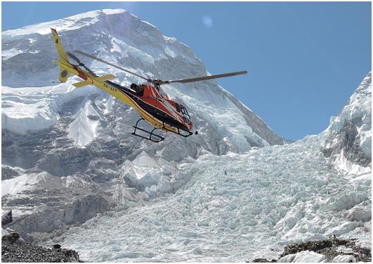 Chopper on Snow