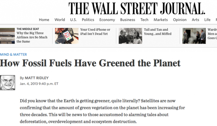 WSJ on Fossil Fuels