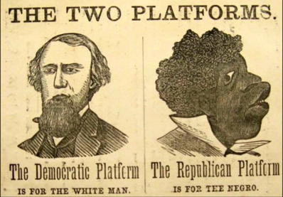 1866 Democrat Party campaign poster