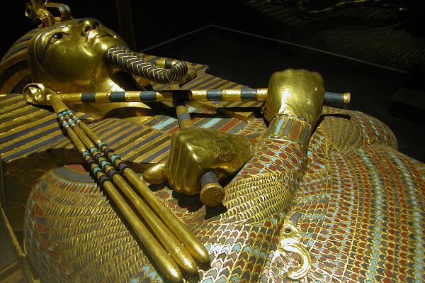 Sarcophagus of King Tut.  Photo by Jack Wheeler