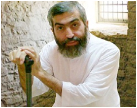 Ayatollah Boroujerdi in his prison cell