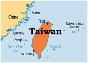 taiwan-on-map