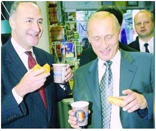 Chuck Schumer and his buddy Putin in New York