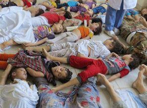 Syrian children killed by Assad's nerve gas