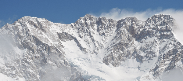 Kanchenjunga Main, 3rd highest mountain in the world, 8,586 meters/28,169 ft