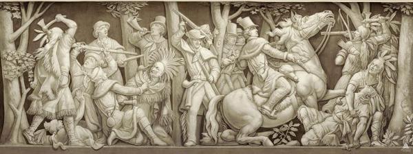Frieze portraying death of Tecumseh, Rotunda, US Capitol