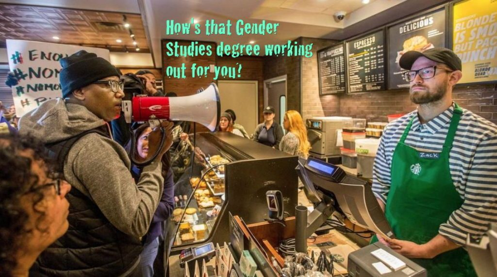 starbucks-megaphone-gender-studies