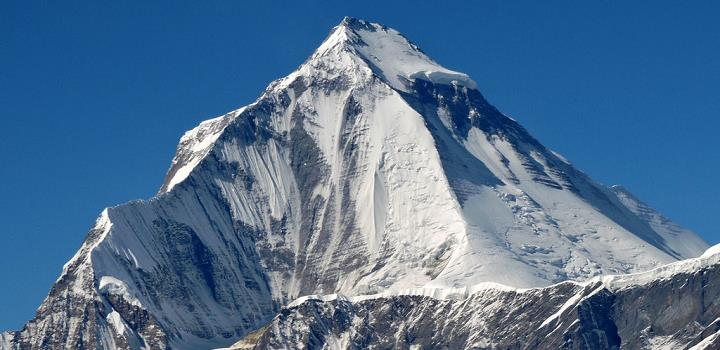 Dhaulagiri, 7th highest mountain in the world, 8167m/26,787ft