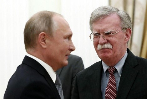 Bolton with Putin in the Kremlin