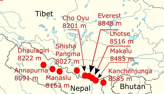 height-of-himalayan-giants