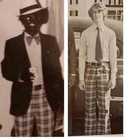 "Ralph ""Coonman"" Northam wearing same Blackface plaid pants"