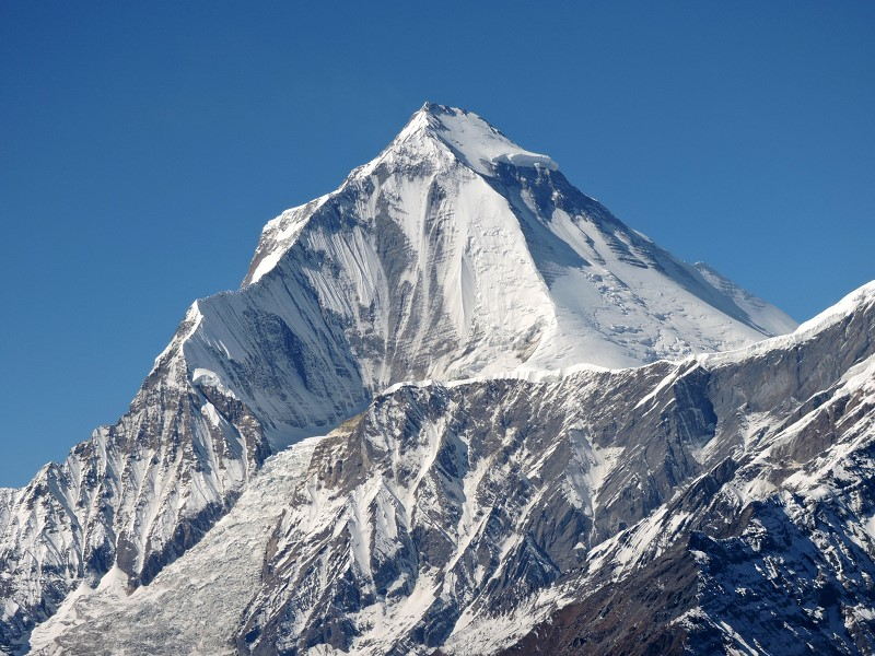 Dhaulagiri – 7th highest mountain in the world – 8,222m/26,975ft ©2019 Jack Wheeler