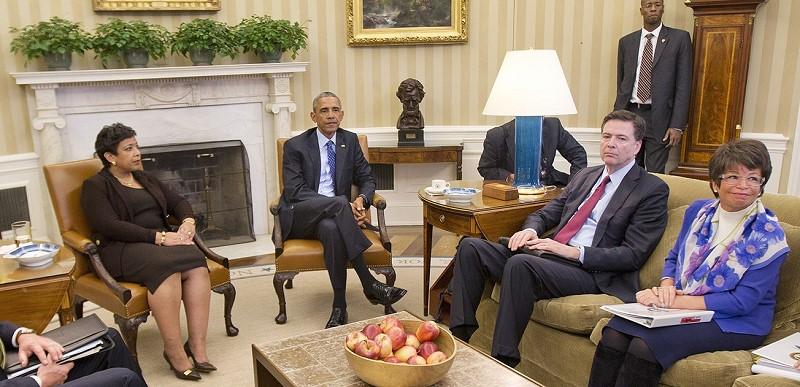 AG Lynch, Obama, Comey, ValJar