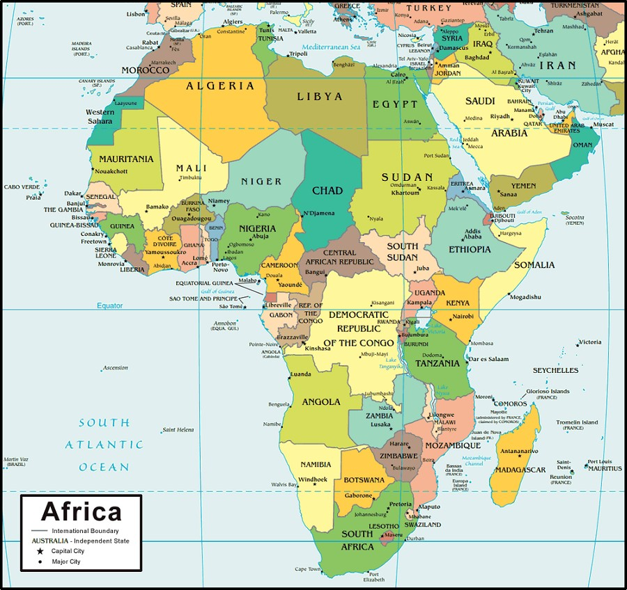 africa-on-map