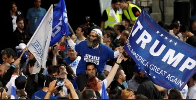 Celebrating Likud election victory on April 9
