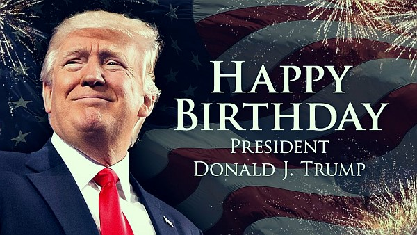 The President is 73 today, June 14
