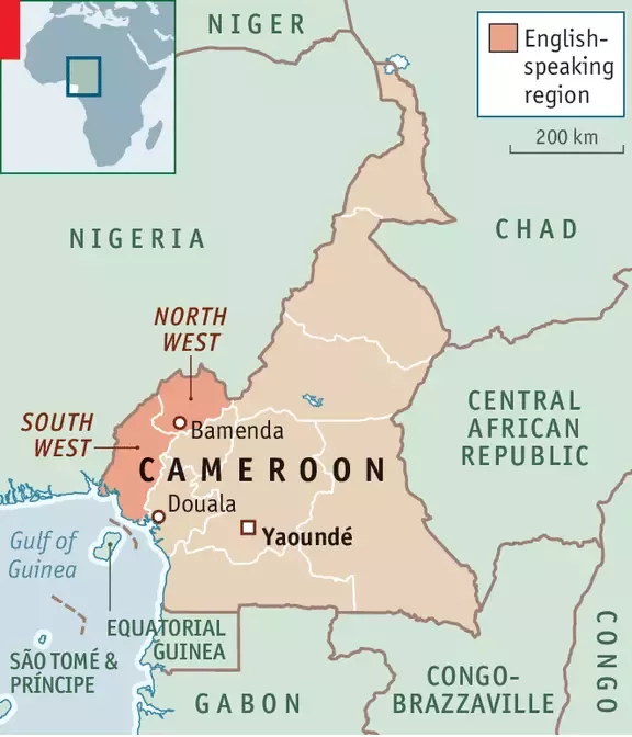 cameroon-on-map