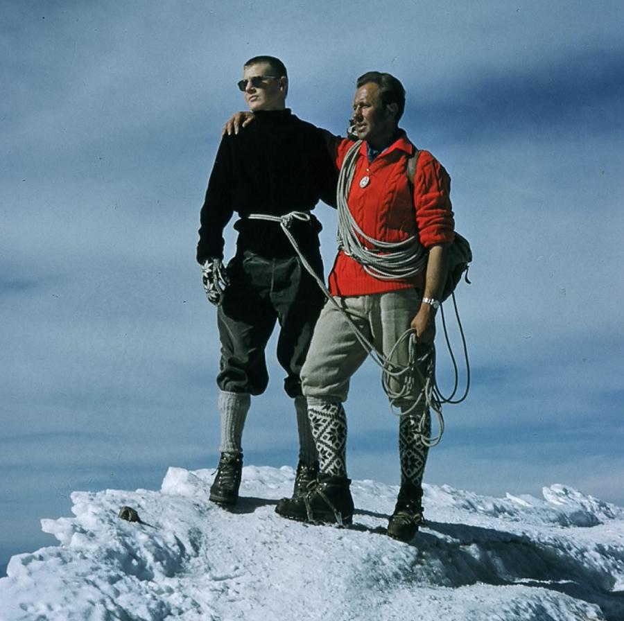 Jack with guide Alfons Franzen Matterhorn Summit 9/15/58