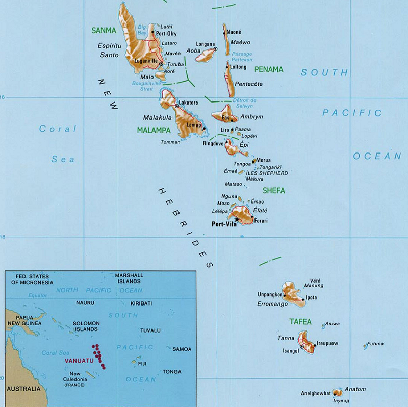 The New Hebrides is now the country of Vanuatu