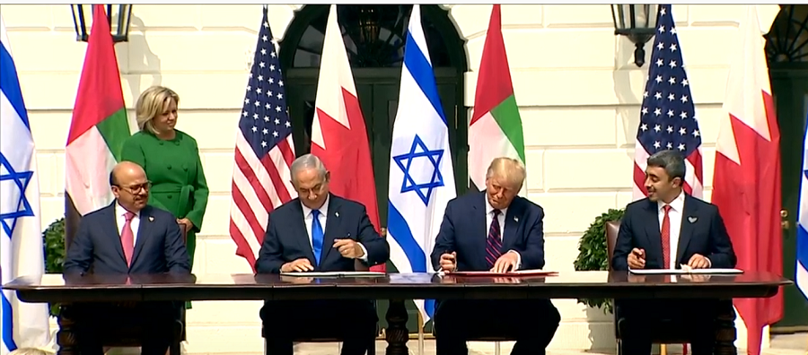 Historic peace agreement between Israel, UAE, and Bahrain signed at White House today (9/15)