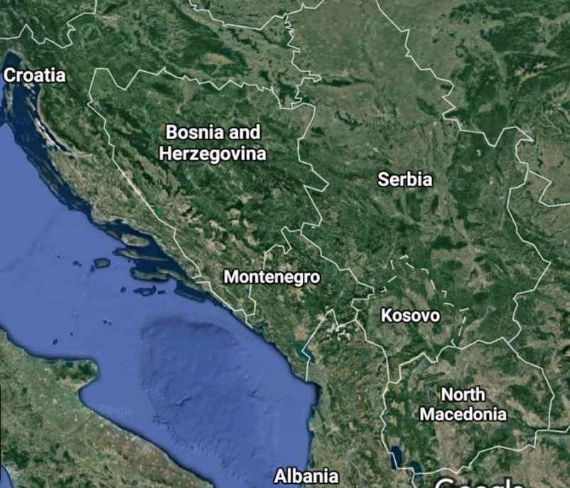 kosovo-and-serbia-on-map