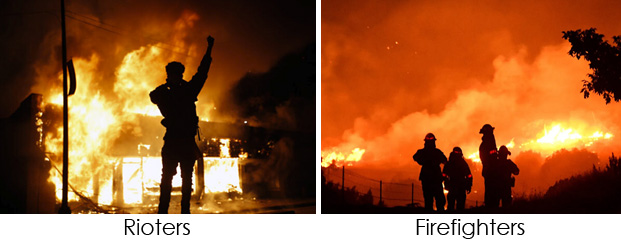 rioters-firefighters