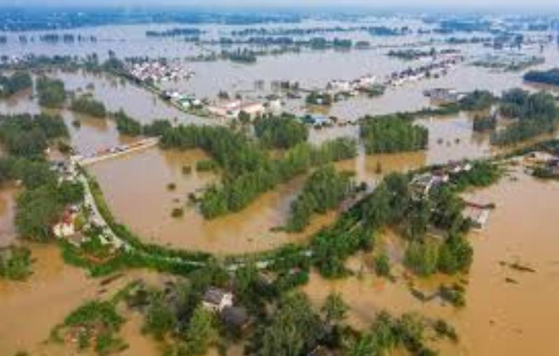 Flooded farmland as far as the eye can see