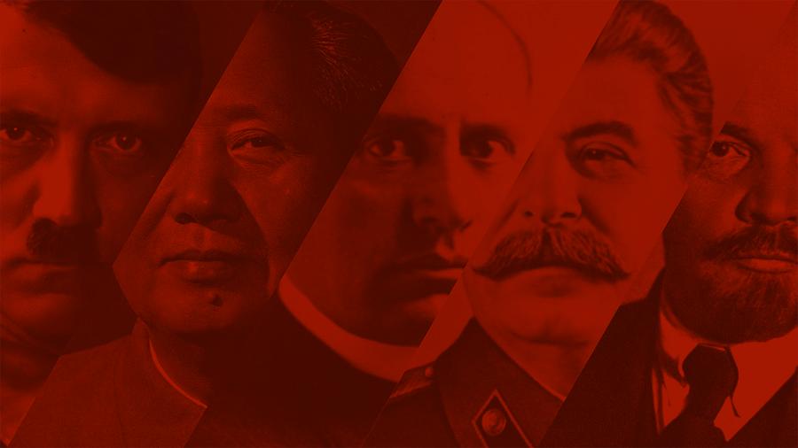 Hitler, Mao, Mussolini, Stalin, Lenin