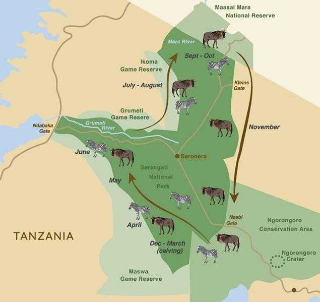 serengeti-safari-map