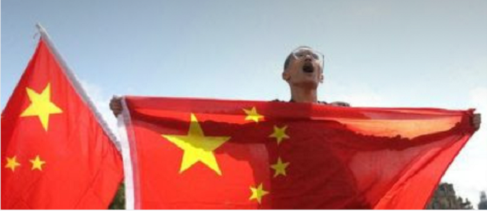 chinese-protester-flag