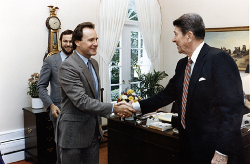 Jack with President Reagan in the White House