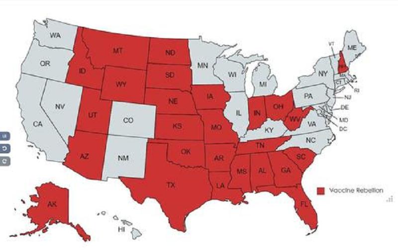 26 States Rejecting Biden Vax Mandates