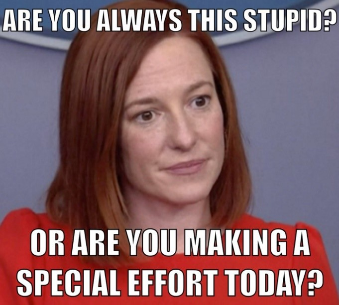 White House Spokesidiot Jen Psaki