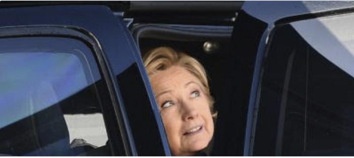 hillary-peeking